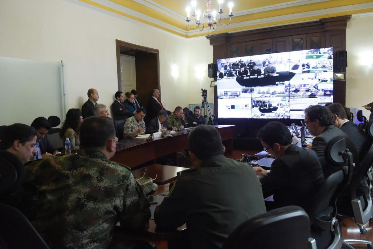 Mininterior Juan Fernando Cristo, lideró una segunda videoconferencia sobre movimiento campesino3