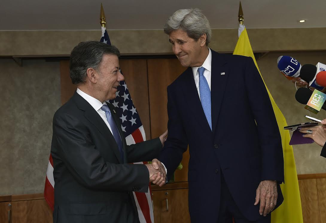 Presidente Juan Manuel Santos se entrevistó de nuevo este miércoles con el Secretario de Estado de Estados Unidos, John Kerry