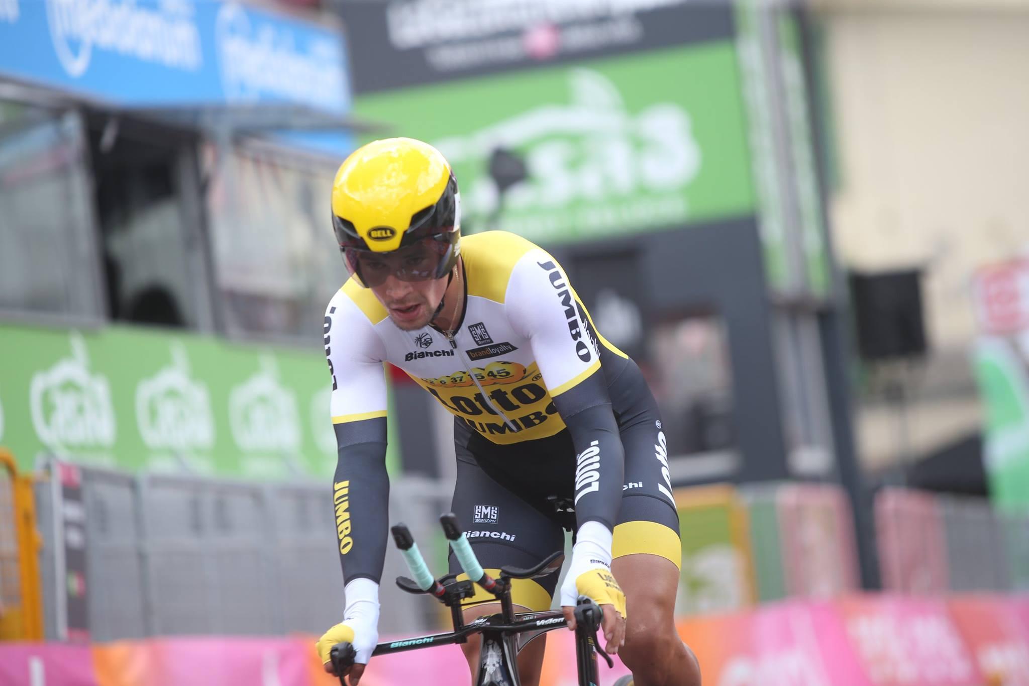 Primož Roglič gana la contrarreloj en el Chianti Classico Stage!