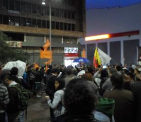 Protestaron contra la privatización de la ETB