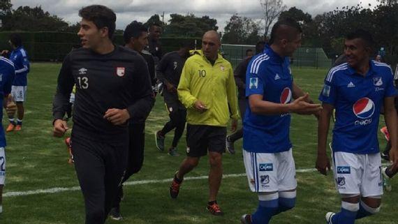 Santa Fe y Millonarios realizaron una práctica conjunta