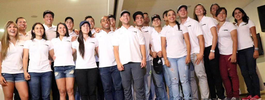 Selección Colombia de BMX, que actuará en el Campeonato Mundial de BMX 2016.