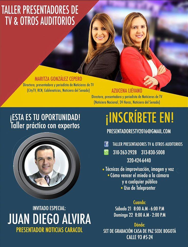 Taller para presentadores con Juan Diego Alvira