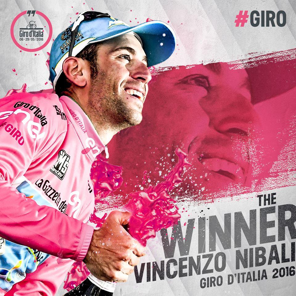 Vincenzo Nibali es el ganador del Giro d'Italia 2016