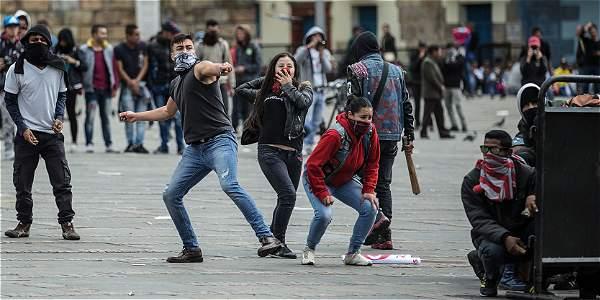 isturbios en Bogotá el 1 de Mayo