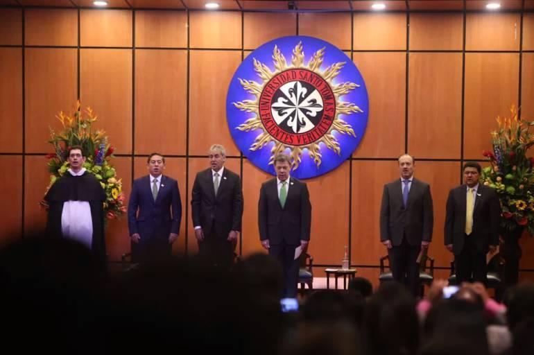 presidente Juan Manuel Santos posesionó en Tunja al nuevo ministro de justicia, Jorge Eduardo Londoño.