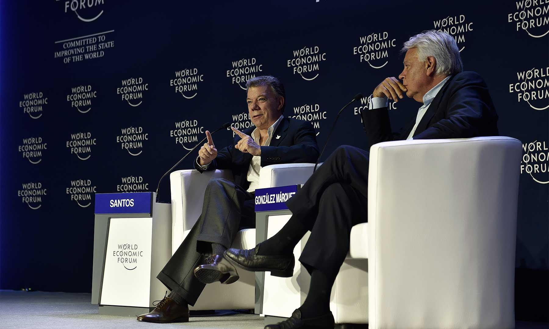 El Presidente Santos durante la sesión plenaria del Foro Económico Mundial sobre América Latina, dijo que las favorables cifras de industria y comercio ratifican el curso firme que tiene Colombia en materia económica.