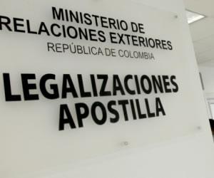 Apostilla o legalización de documentos
