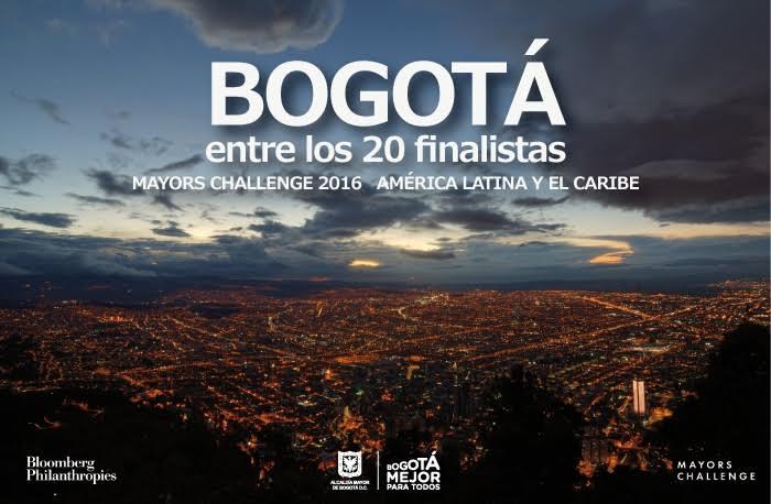Bogotá es finalista en el Mayors Challenge 2016 de Bloomberg Philanthropies