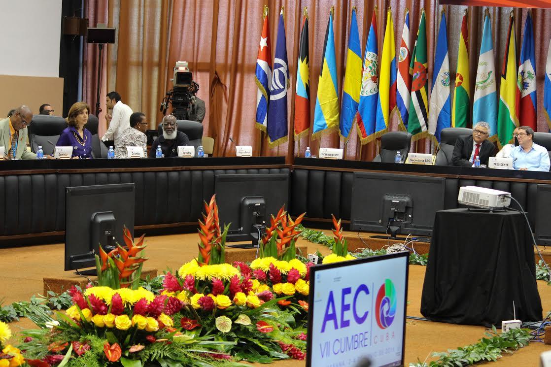Canciller Holguín en la VIII Reunión Extraordinaria del Consejo de Ministros de la (AEC),