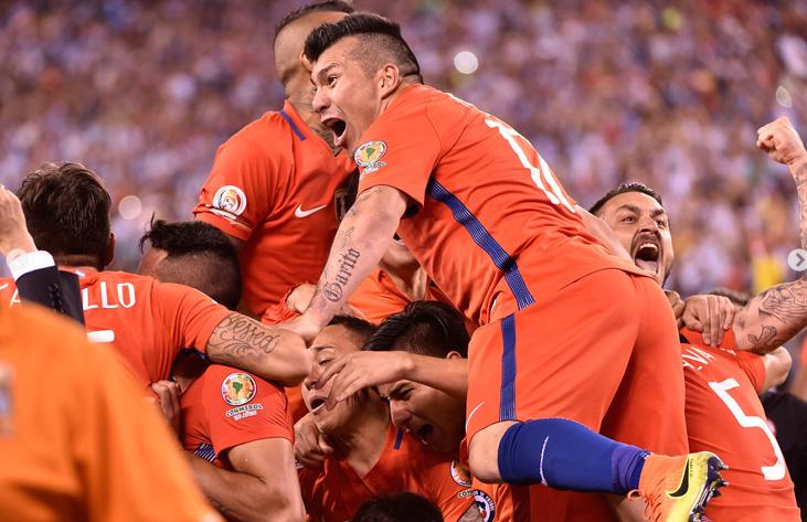 Chile campeón Centenario