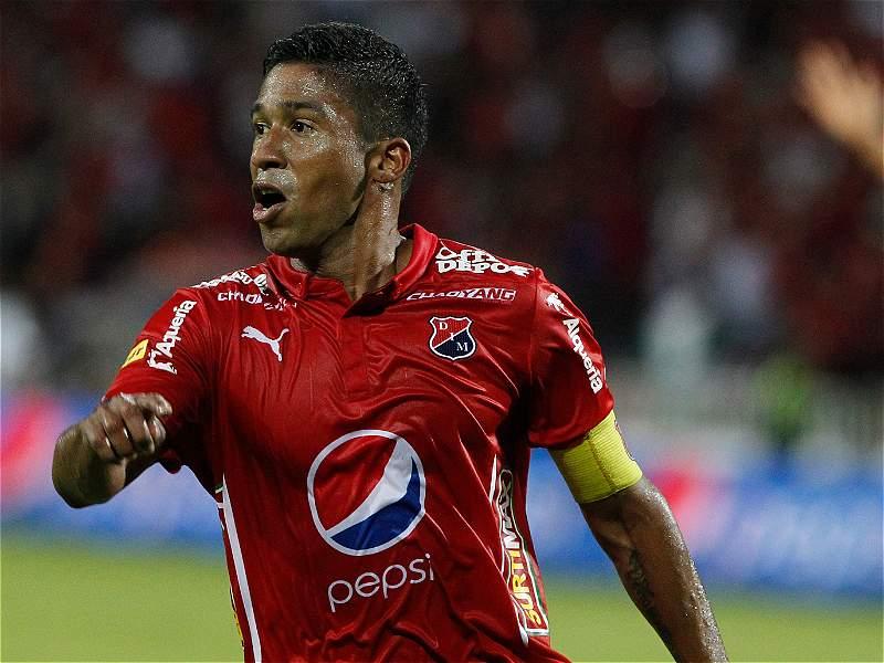 Christian Marrugo festeja el gol que le marcó a Junior, en el Atanasio.