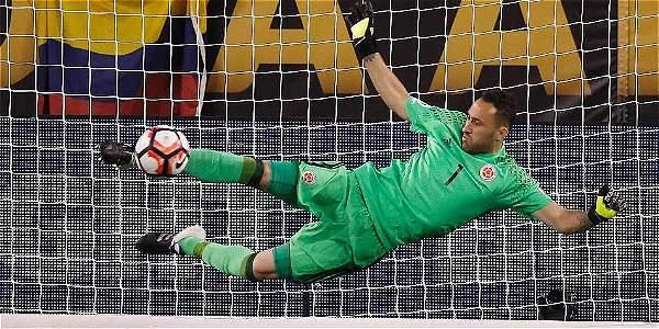 David Ospina fue la figura en la tanda definitiva contra Perú, en los cuartos de final.