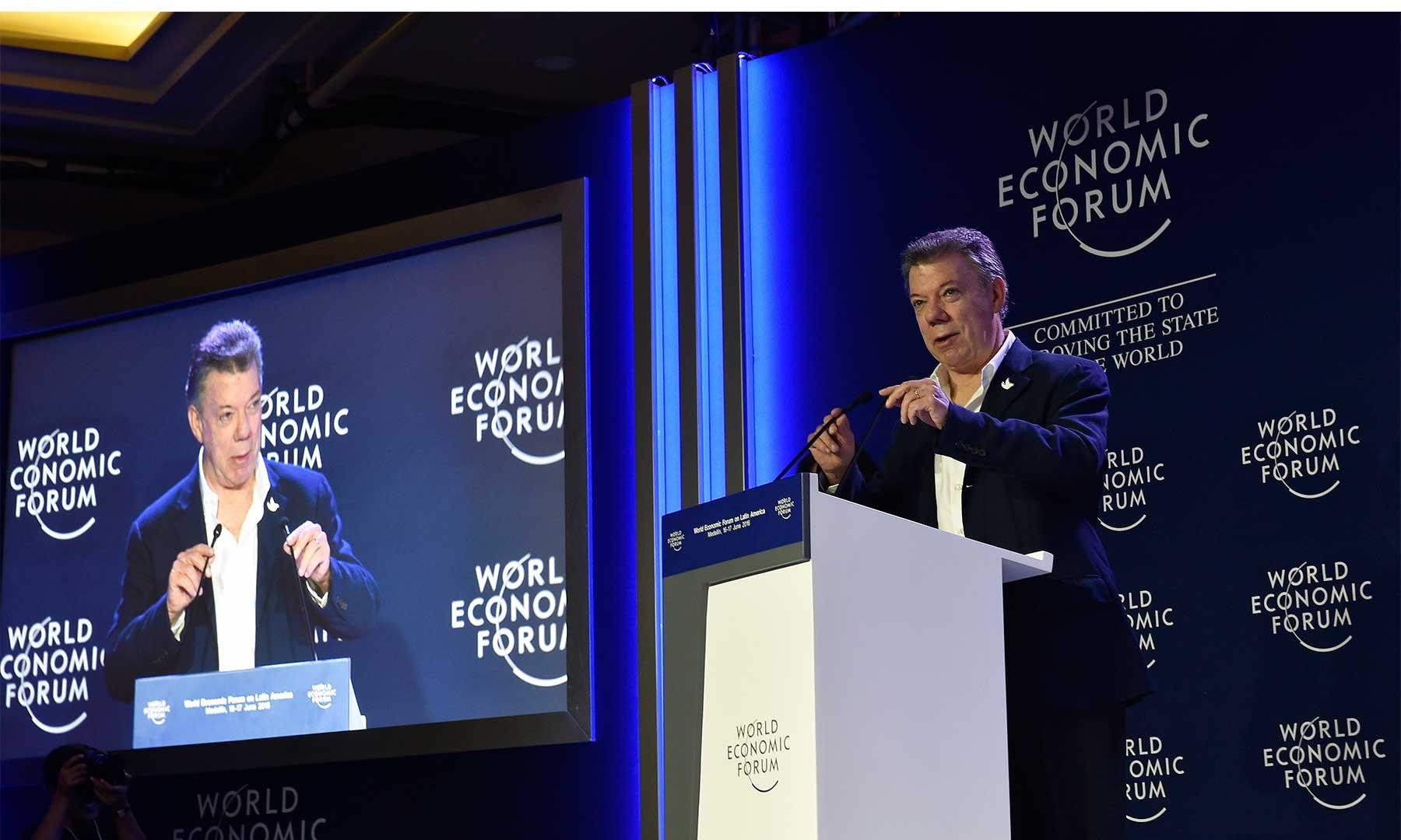 El Presidente Juan Manuel Santos reiteró en el Foro Económico Mundial para Latinoamérica, que la seguridad es fundamental para que un país pueda alcanzar importantes niveles de crecimiento.