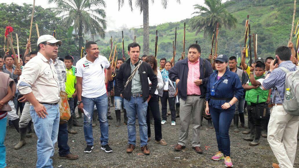 Indígenas se comprometieron a desbloquear la vía Pasto-Tumaco