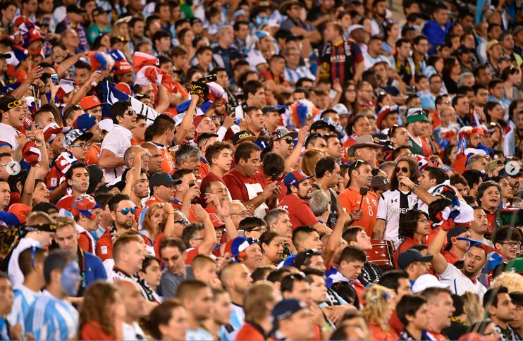 Los hinchas respondieron en la Copa Centenario