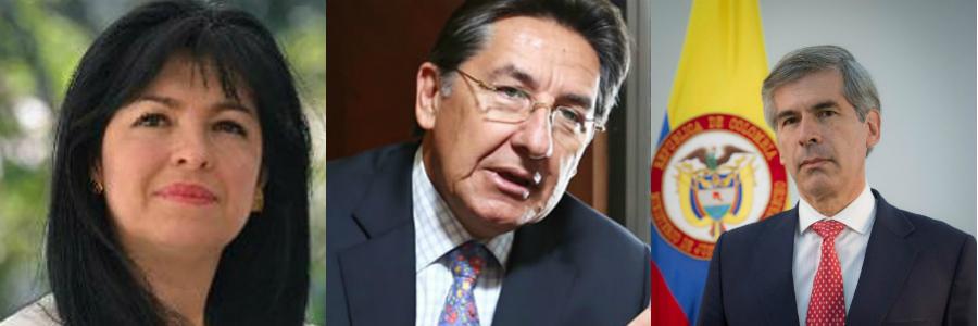 Mónica Cifuentes,Néstor Humberto Martínez y Yesid Reyes