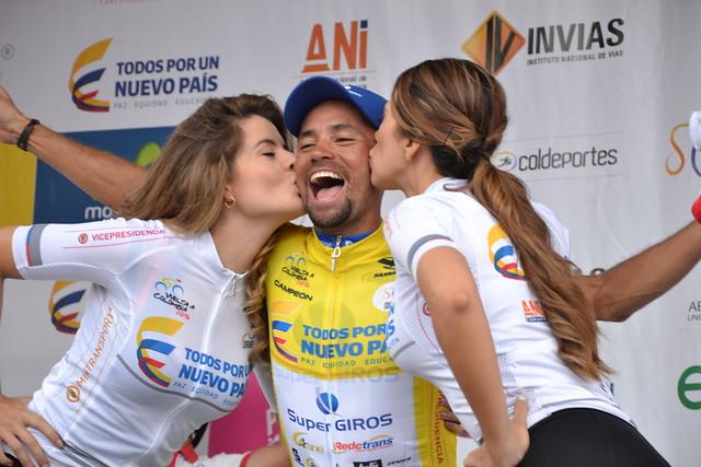 Mauricio Ortega, actual líder de la Vuelta a Colombia 2016.