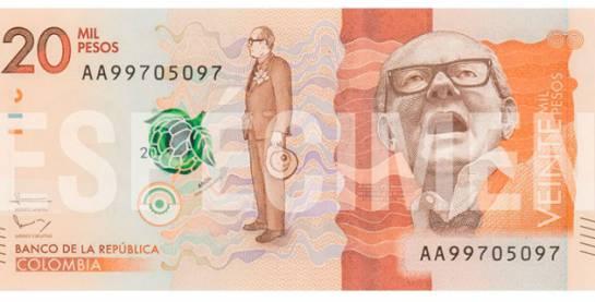 Nuevo billete de $20.000