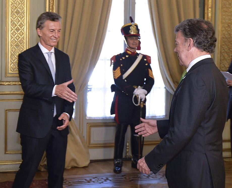 Presidente  de  Argentina y Colombia