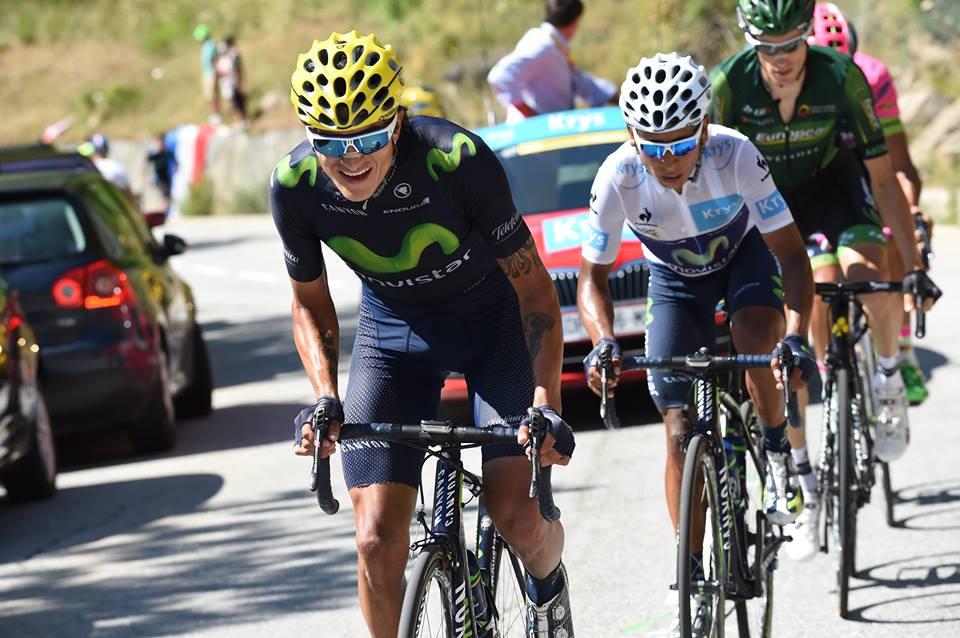 Winner Anacona y Nairo Quintana, ciclistas del Movistar Team.