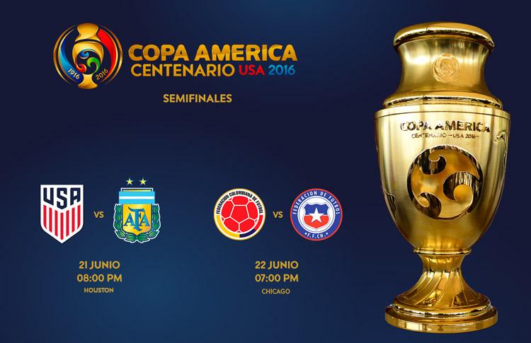 Tres selecciones de CONMEBOL y una de CONCACAF, a semifinales