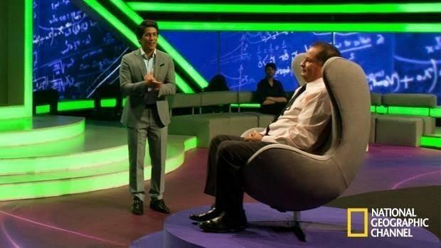 García Serrano en el set de la National Geographic invitado para la serie 'Súper Cerebros'. Foto: Archivo particular
