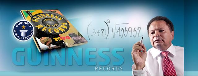 Su primer récord Guinness, en 1989, fue cuando calculó la raíz 13 de un número de más de cien dígitos. Foto: Archivo particular