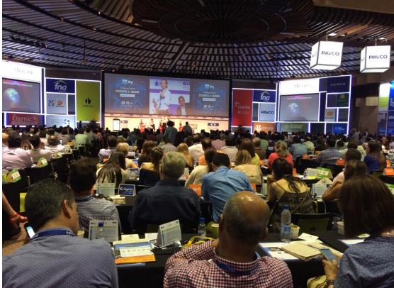 clausura del Congreso Colombiano de la Construcción, la presidente de Camacol, Sandra Forero Ramírez