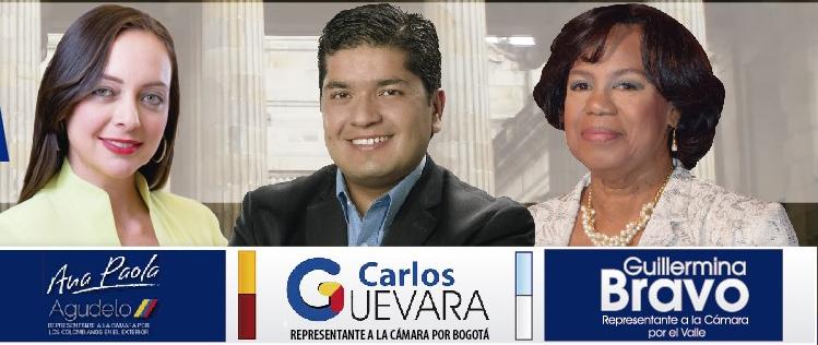 Ana Paola Agudela,Carlos Guevara y Guillermina Bravo