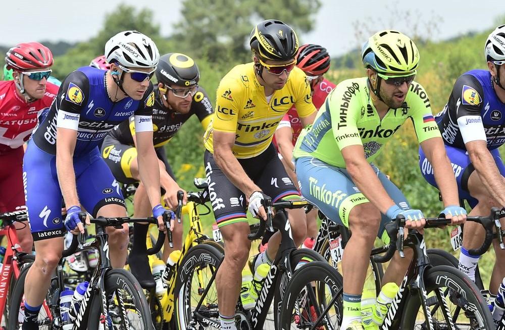 Tour de France 2016 - 05/07/2016 - Etape 4 - Saumur/ Limoges (237.5 km) - SAGAN Peter (TINKOFF) dans le peloton avec le maillot Jaune