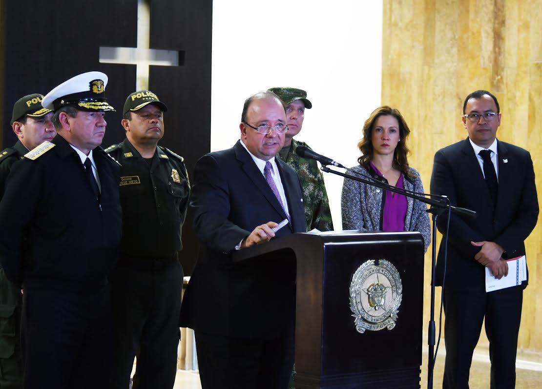 Declaraciones Mindefensa Policía