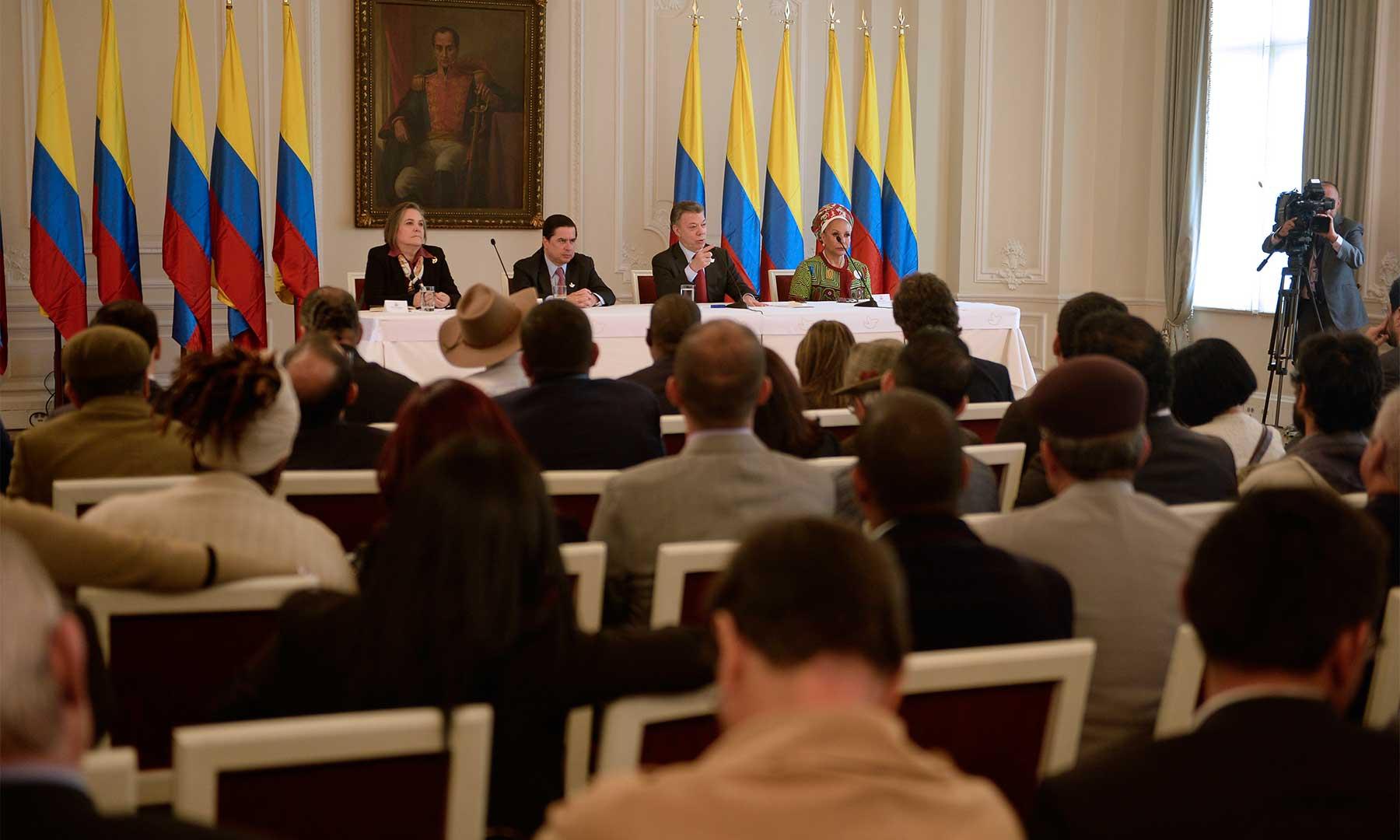El Presidente Santos reconoció que los representantes de la izquierda y las organizaciones sociales han estado presentes y unidos en torno al propósito de lograr la paz para el país.