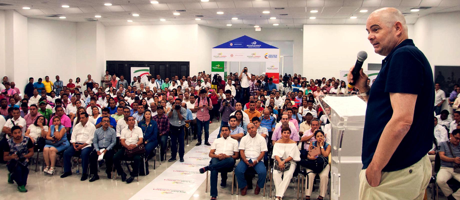Firma de Convenios Vivienda Gratis Fase II en Bolívar