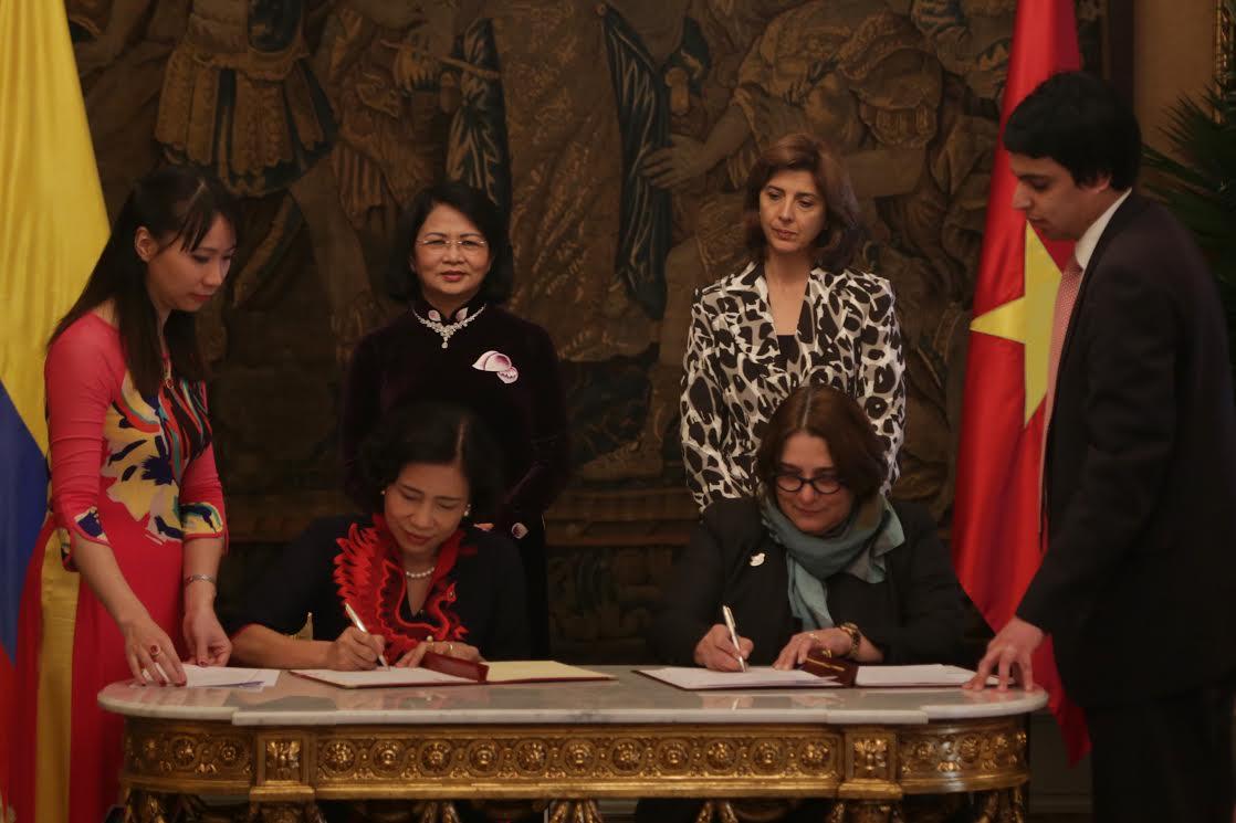 Rueda de prensa canciller-vicepresidenta Vietnam-9