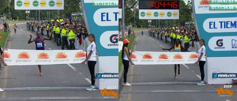 Tola y Rionoripio son los nuevos campeones de la Media Maratón de Bogotá