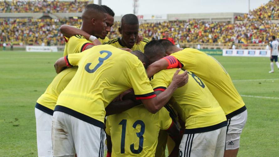celebracion de Colombia ante Honduras