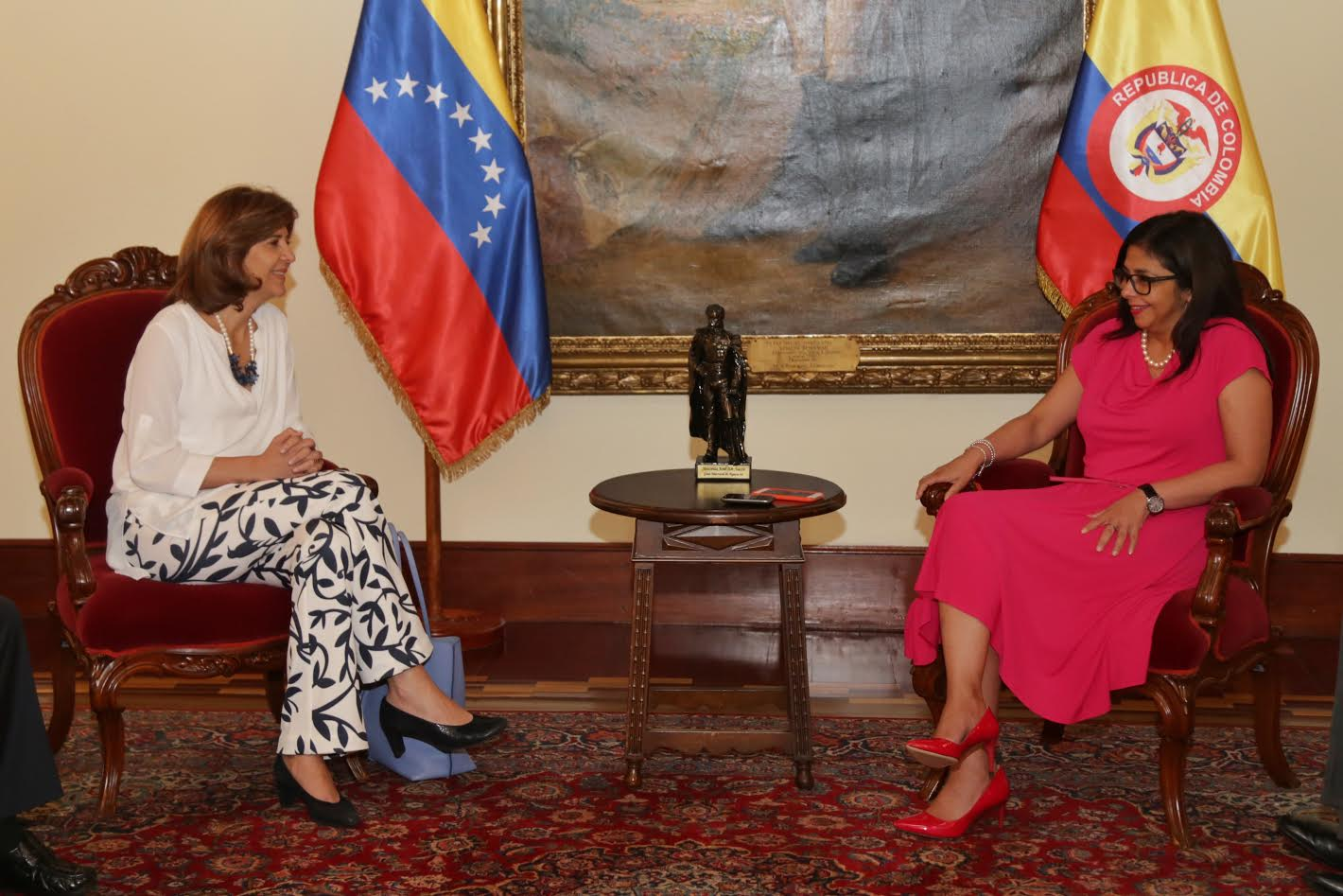 Cancilleres de Colombia y Venezuela 040816