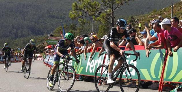 Chris Froome y Esteban Chaves durante la tercera etapa