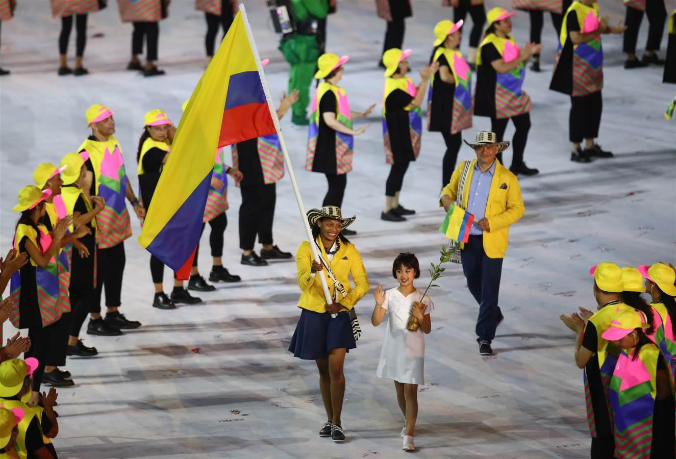 Colombia en la Inauguración Olímpicps Río 2016