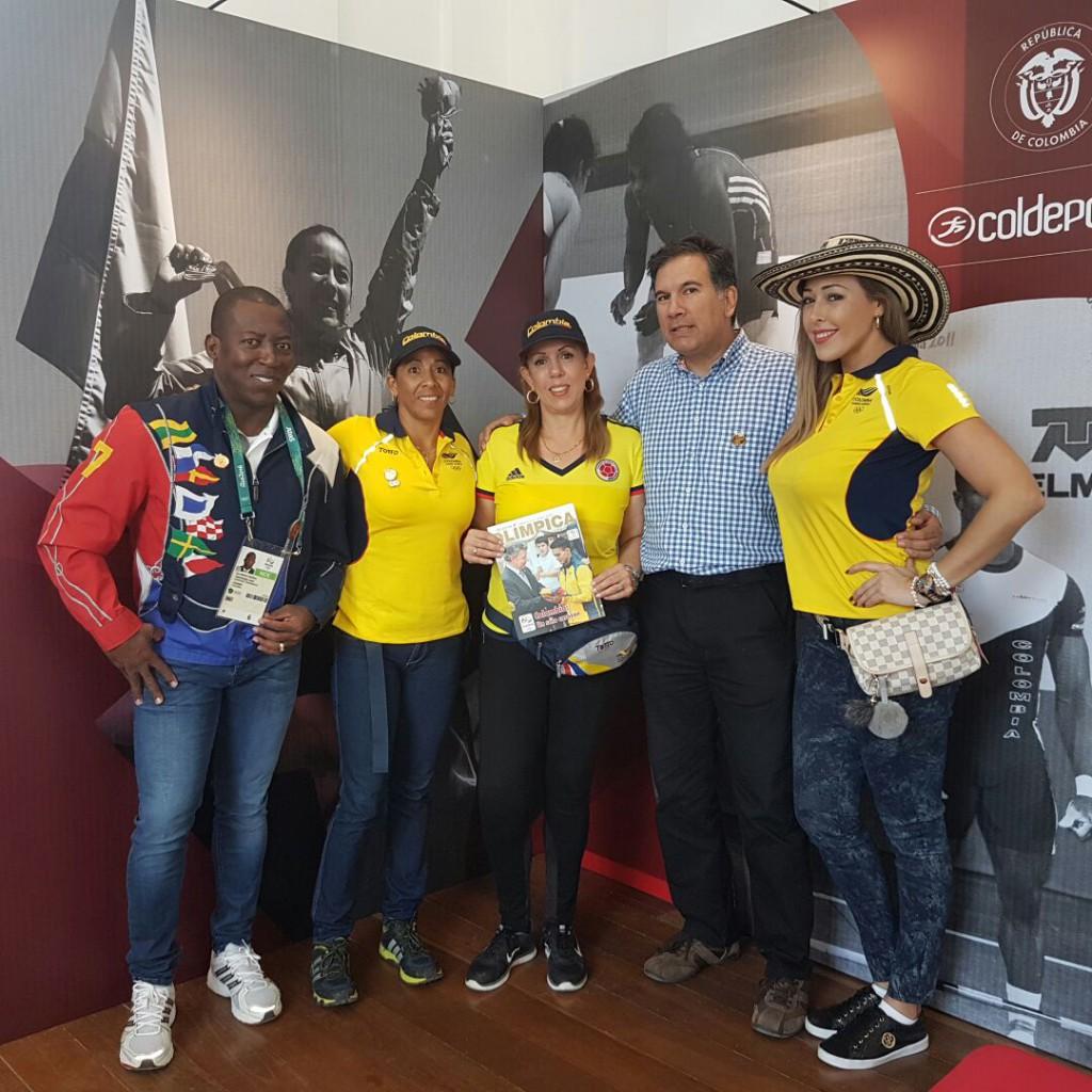 Comitiva de Coldeportes visitó Casa Colombia