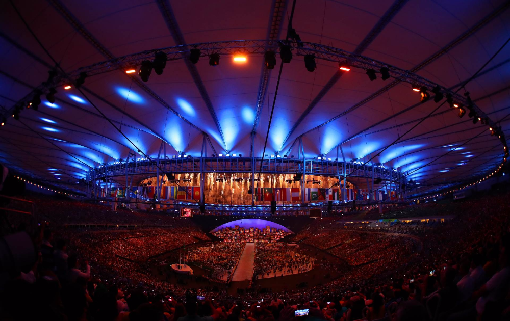 El Estadio Maracaná, durante la Ceremonia de Apertura