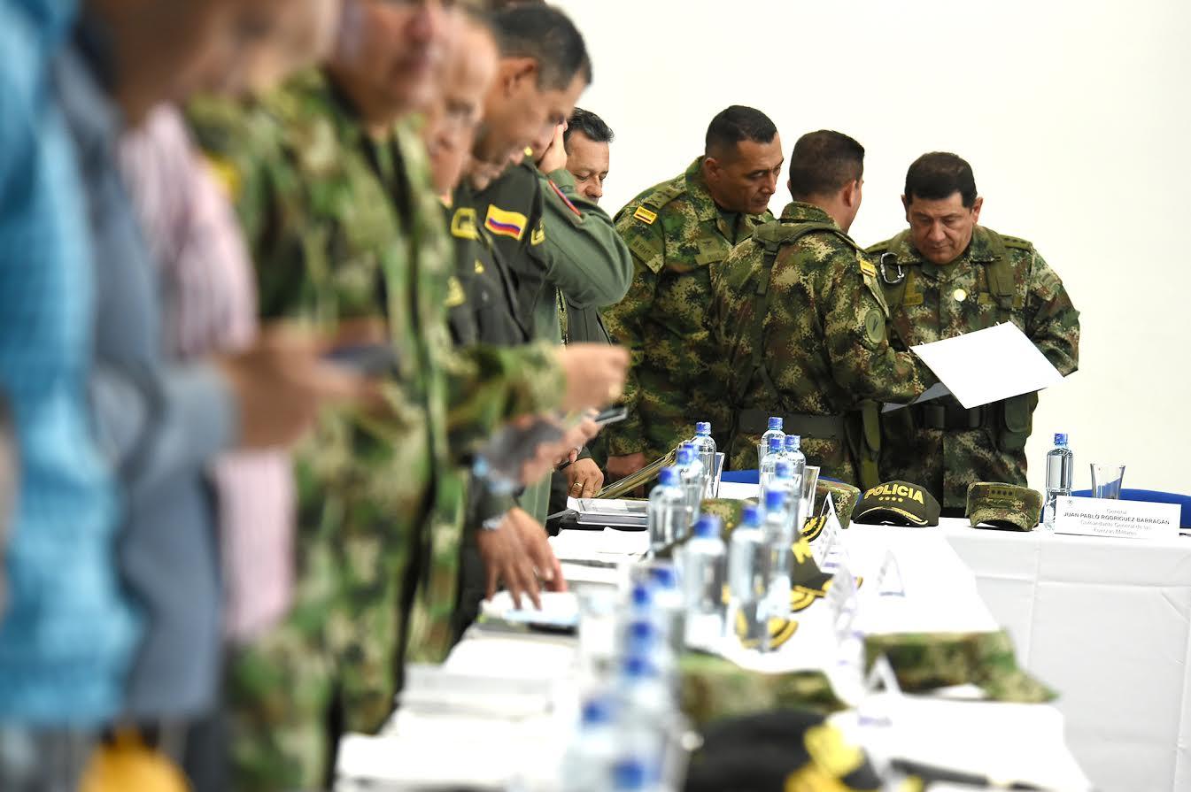En Pereira, el presidente Juan Manuel Santos, en compañía de Luis Carlos Villegas, ministro de Defensa Nacional