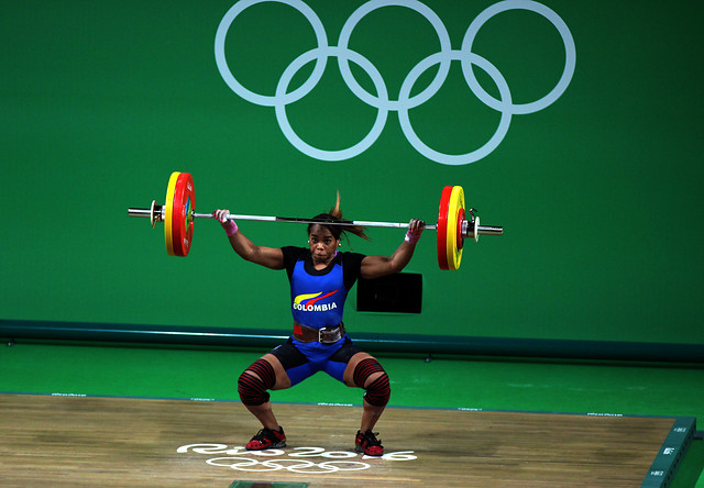 Leidy Solís, cuarto puesto en la categoría de los 69 kilogramos de las pesas.