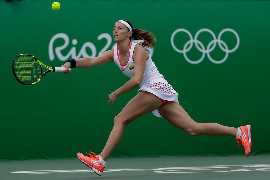 Mariana Duque, eliminada del tenis olímpico en Río 2