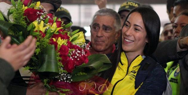 La antioqueña fue recibida en el aeropuerto José María Córdova, de Rionegro, por varios familiares y medios de comunicación.