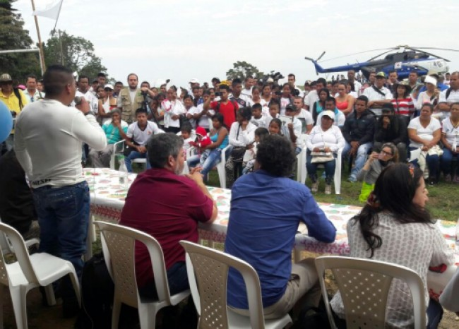 Misión de verificación de zonas veredales llegó a Corinto, Cauca