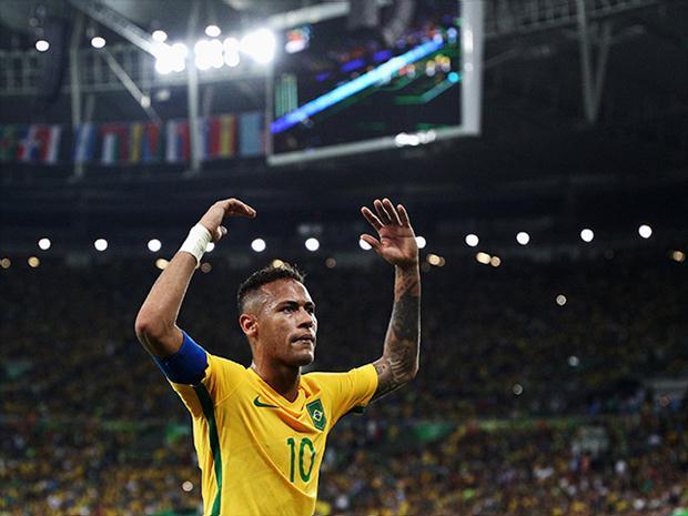 Neymar campeón Olímpico con Brasil