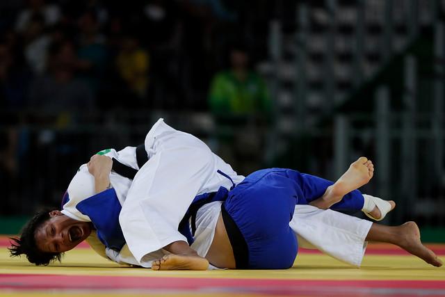 Yuri Alvear durante su jornada épica de este miércoles, 10 de agosto, en el judo de Río 2016.