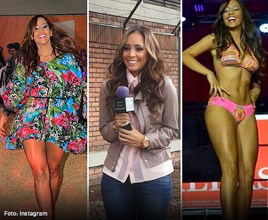 Juliana y sus facetas de modelo y presentadora. En cada una de ellas le sonreía la vida.